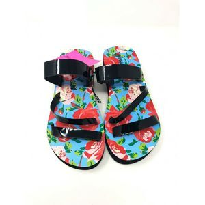 Betsey Johnson Sandals Floral Strap Womens M 7-8